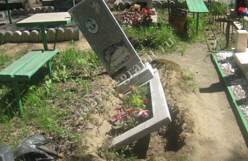 Установка памятников на кладбище изготовление памятников в москва с бесплатной доставкой